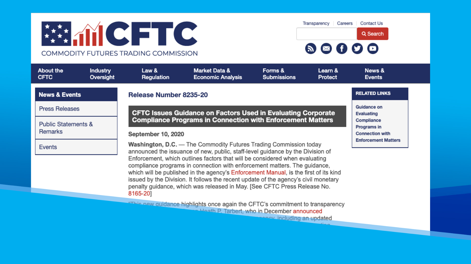 Prevention, Detection, and Remediation: CFTC's Compliance Guidance